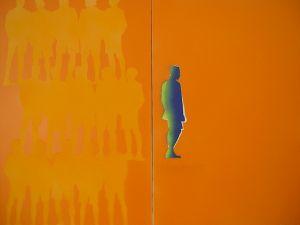 """Heinz Morstadt zeigt sein Werk """"Grenzgänger 100x160"""""""