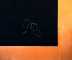 """Heinz Morstadt zeigt sein Werk """"Tango (100x120)"""""""