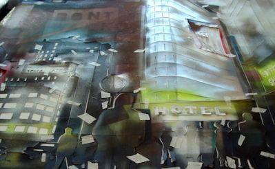 """Heinz Morstadt zeigt sein Werk """"Broadway Collage NY 2013"""""""