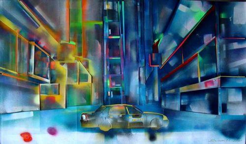 """Heinz Morstadt zeigt sein Werk """"Times Square"""""""